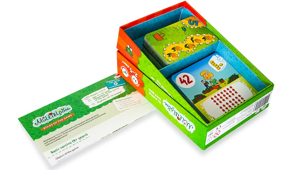 The game box with contents.